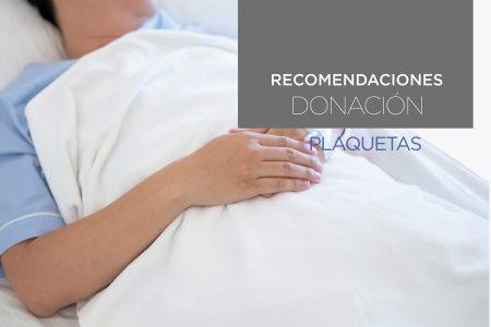 Recomendaciones después de donación Plaquetas