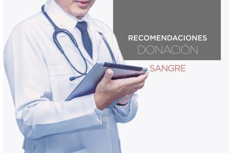 Recomendación después de donación Sangre