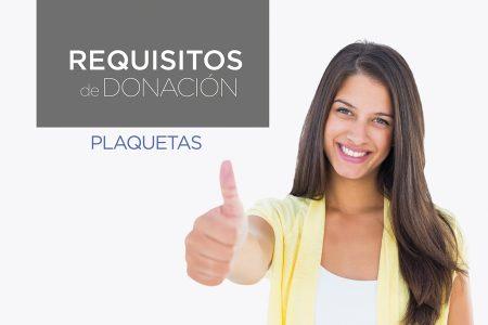 Requisitos donación de plaquetas